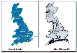 Ассоциации с англией картой, Англия на карте напоминает свинью