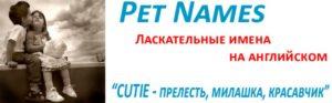 Pet names - Ласкательные имена на английском