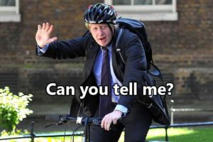Борис Джонсон на велосипеде вопросы на английском