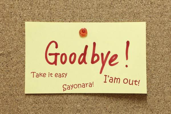 20 способов попрощаться