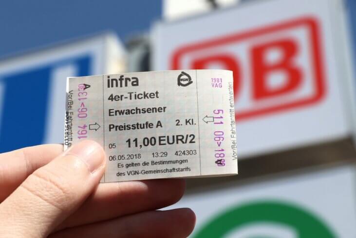билет на транспорт в Германии